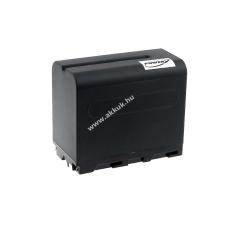 Powery Utángyártott akku Sony videokamera DCR-VX1000 6600mAh fekete sony videókamera akkumulátor