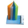 Pp Gyűrűskönyv műanyag -2-187- A4 4gyűrűs 3, 5cm gerinc OPÁL KÉK  P+P