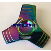 PRC Fidget Spinner pörgettyű fém - Tri 3*színes csíkos neokróm