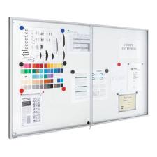 Premium beltéri fali vitrin és whiteboard egyben (tolóajtóval) 69,0x95,0 cm irodabútor