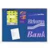 Premium filc pinboard, 100x150 cm, kék