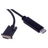 PremiumCord DisplayPort - DVI-D interfész, árnyékolt, 3m