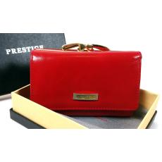 Prestige bordó  (meggypiros ), keretes bőr pénztárca PRF46001