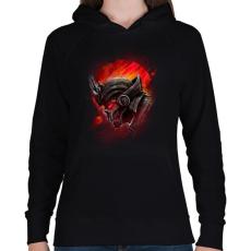 PRINTFASHION A bolygó titka - Női kapucnis pulóver - Fekete