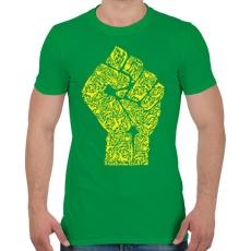 PRINTFASHION A forradalom keze - Férfi póló - Zöld