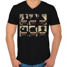 PRINTFASHION A horror horda - Férfi V-nyakú póló - Fekete