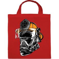 PRINTFASHION A hős maszkos - tűzoltó - Vászontáska - Piros