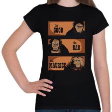 PRINTFASHION A jó, a rossz és Maurice - Női póló - Fekete női póló