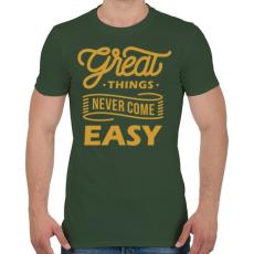 PRINTFASHION A jó dolgok - Férfi póló - Katonazöld