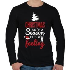 PRINTFASHION A karácsony egy érzés - Férfi hosszú ujjú póló - Fekete
