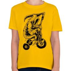 PRINTFASHION A kaszás biciklije - Gyerek póló - Sárga