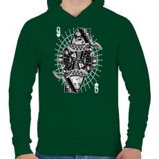 PRINTFASHION A királynő szerelme - Férfi kapucnis pulóver - Sötétzöld