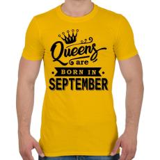 PRINTFASHION A királynők szeptemberben születnek - Férfi póló - Sárga