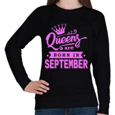 PRINTFASHION A királynők szeptemberben születnek - Női pulóver - Fekete