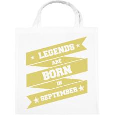 PRINTFASHION A legendák szeptemberben születnek - Vászontáska - Fehér