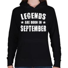 PRINTFASHION A legendák szeptemberben születtek - Női kapucnis pulóver - Fekete