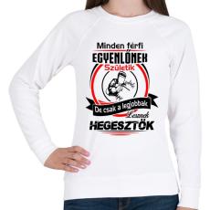 PRINTFASHION A legjobb hegesztők - Női pulóver - Fehér