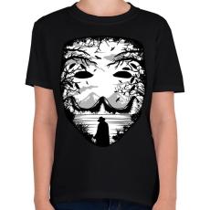 PRINTFASHION A maszk - Vérbosszú - Gyerek póló - Fekete