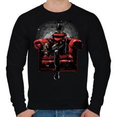 PRINTFASHION A rémálmod - Férfi pulóver - Fekete