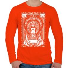 PRINTFASHION A szüzek törzse - Férfi hosszú ujjú póló - Narancs