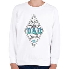 PRINTFASHION A világ legjobb apukájának - Gyerek pulóver - Fehér