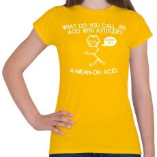 PRINTFASHION ACID - Női póló - Sárga