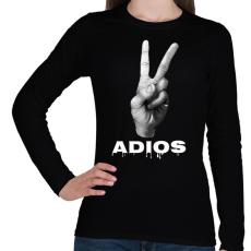 PRINTFASHION ADIOS - Női hosszú ujjú póló - Fekete