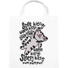 PRINTFASHION Agymenők Soft Kitty - Vászontáska - Fehér