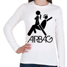 PRINTFASHION Airbag - Női hosszú ujjú póló - Fehér