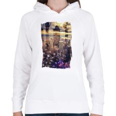 PRINTFASHION Álomvilág - Női kapucnis pulóver - Fehér