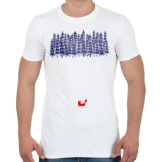 PRINTFASHION Alone in the forest - Férfi póló - Fehér