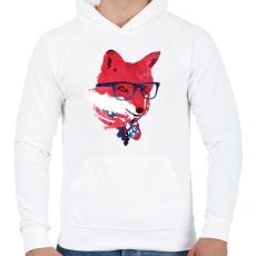 PRINTFASHION American fox - Férfi kapucnis pulóver - Fehér