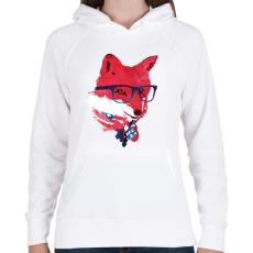PRINTFASHION American fox - Női kapucnis pulóver - Fehér