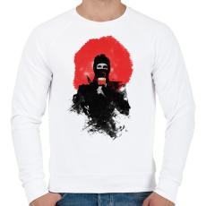 PRINTFASHION American ninja - Férfi pulóver - Fehér