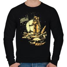 PRINTFASHION Amerikai asztronauta - Férfi pulóver - Fekete