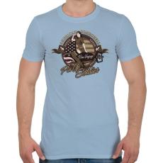 PRINTFASHION Amerikai bombázó - Férfi póló - Világoskék