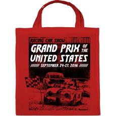 PRINTFASHION Amerikai Grand Prix - Vászontáska - Piros