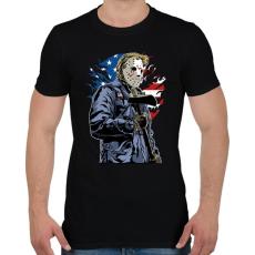 PRINTFASHION Amerikai gyilkos - Férfi póló - Fekete