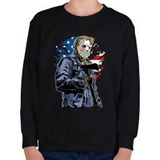 PRINTFASHION Amerikai gyilkos - Gyerek pulóver - Fekete