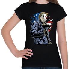PRINTFASHION Amerikai gyilkos - Női póló - Fekete