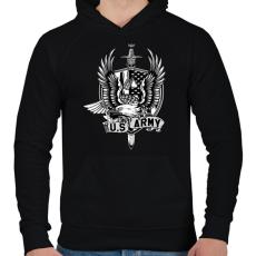 PRINTFASHION Amerikai hadsereg - Férfi kapucnis pulóver - Fekete