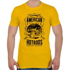 PRINTFASHION Amerikai Hotrods - Férfi póló - Sárga