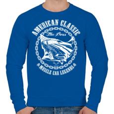 PRINTFASHION Amerikai klasszikus - Férfi pulóver - Királykék