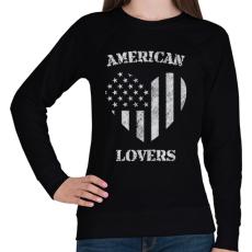 PRINTFASHION Amerikai szerető - Női pulóver - Fekete