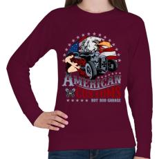 PRINTFASHION Amerikai szokás - Női pulóver - Bordó