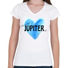 PRINTFASHION Amit szabad Jupiternek... - Női V-nyakú póló - Fehér