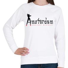 PRINTFASHION amsterdam-black-red - Női pulóver - Fehér