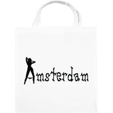 PRINTFASHION amsterdam-black-white - Vászontáska - Fehér
