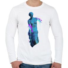PRINTFASHION Ancient accident - Férfi hosszú ujjú póló - Fehér