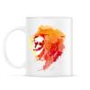 PRINTFASHION Angry lion - Bögre - Fehér